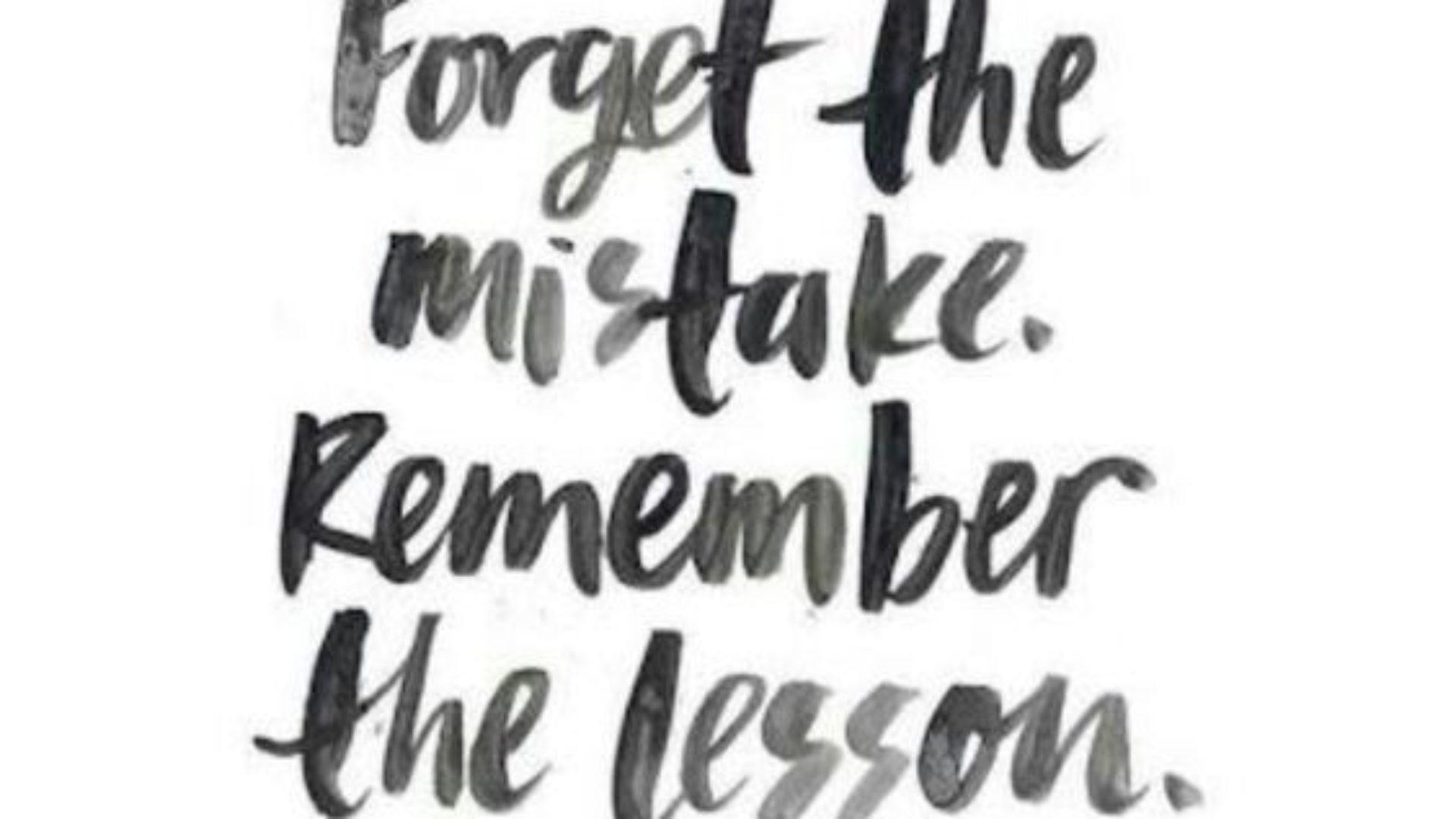 Dlaczego warto popełniać błędy